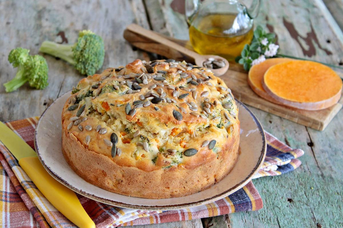 Torta salata solo albumi con verdure di stagione
