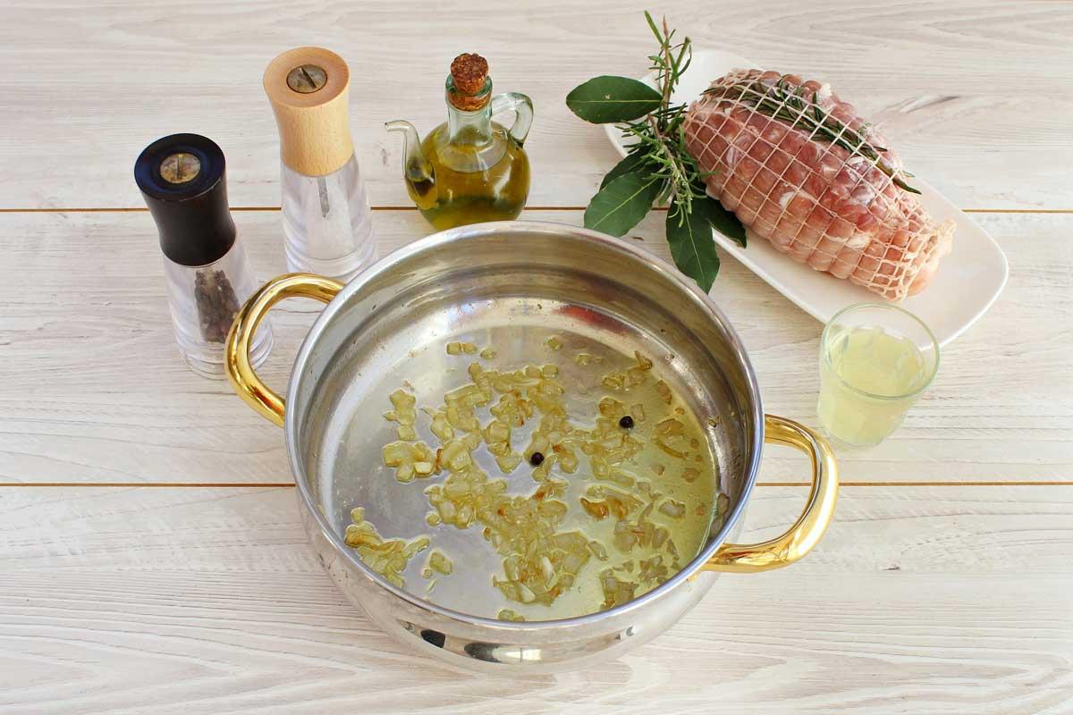 Arrosto di maiale mele e castagne