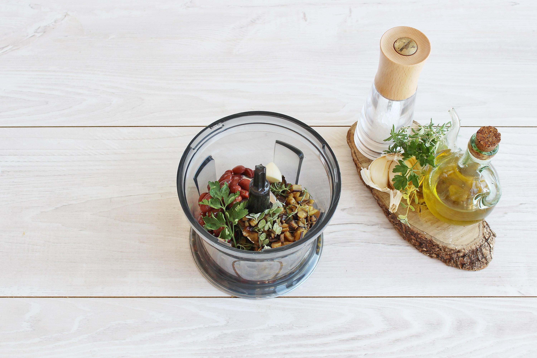 Polpette di quinoa, fagioli e melanzane